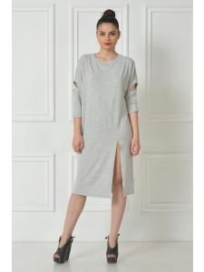 GRAY SPLIT DRESS SHIRT