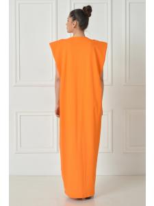 REGAL DRAPED LONG DRESS
