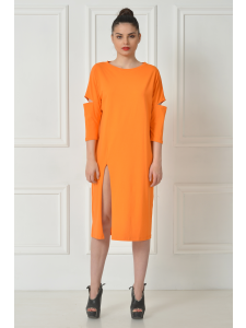 ORANGE SPLIT DRESS SHIRT