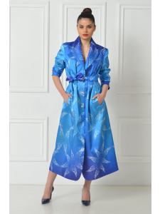 PRINTED TAFFETA TRENCH COAT